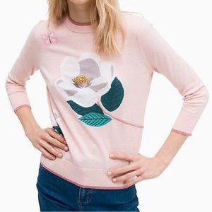 Kate Spade Pink Flower Sweater